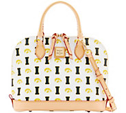 Dooney & Bourke NCAA University of Iowa Zip Zip Satchel - A283220