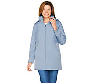 Isaac Mizrahi Live! 3-in-1 Soft Shell Coat with Quilted Puffer Vest - A287020