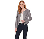 H by Halston Lamb Leather Jacket with Perforated Panels - A288620
