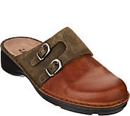 Naot Leather Double Buckle Clogs - Leilani - A297320