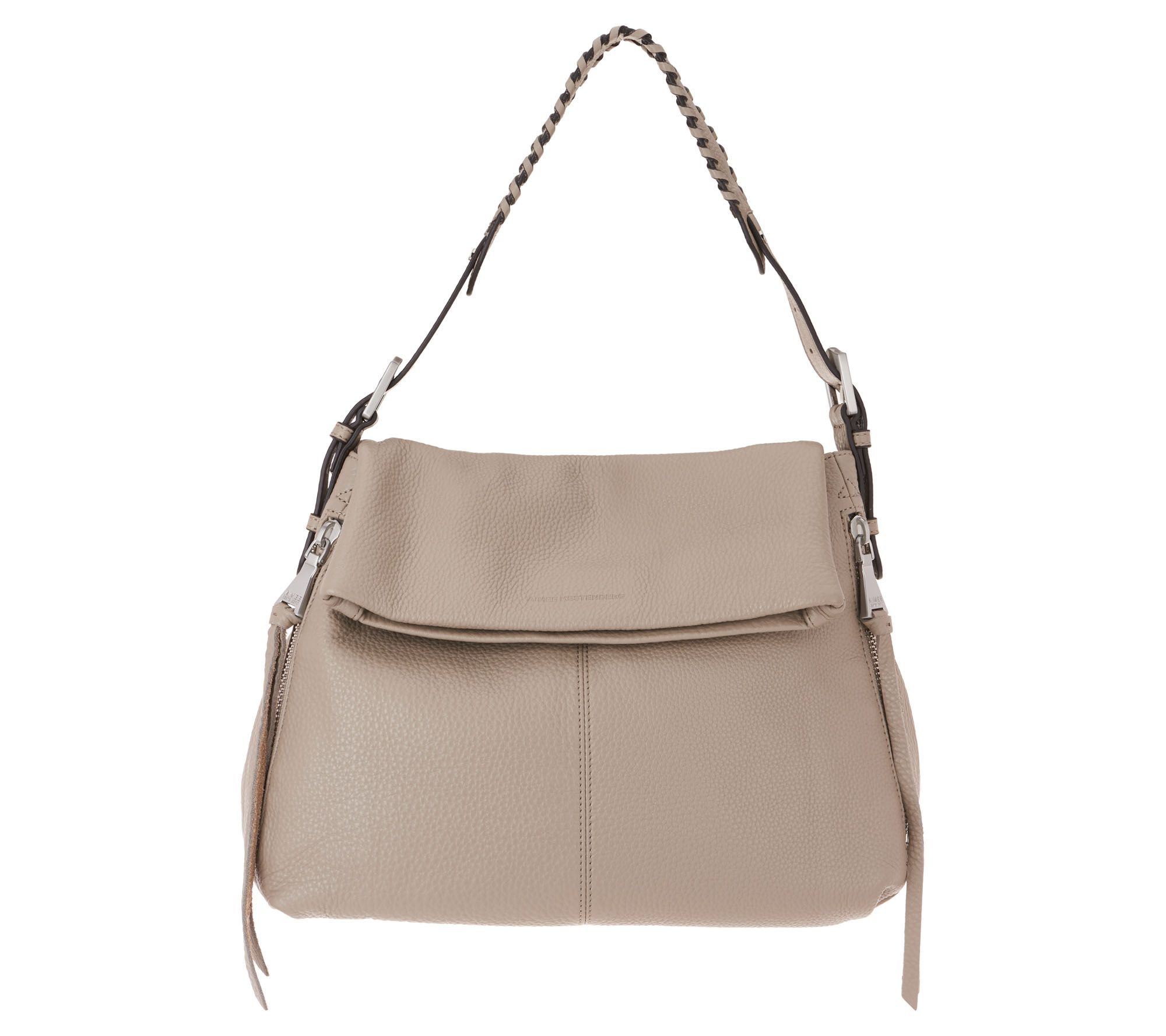 330989a5f2 Aimee Kestenberg Double Entry Leather Hobo - Penelope - Page 1 — QVC.com