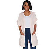 Martha Stewart Open Front Extended Shoulder Cardigan - A307720