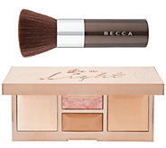 BECCA Be a Light Palette and Kabuki Brush - A344820