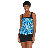 As Is Fit 4 U Square Neck Tankini Swimsuit with Short - A345920