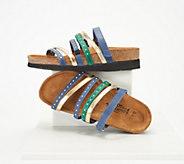 Naot Leather Multi-Strap Slide Sandals - Prescott - A349620