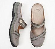 Earth Origins Leather Mary Jane Mules - Clara Chloe - A350720