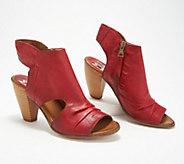 Miz Mooz Leather Peep-Toe Heeled Sandals - Mindy - A350820