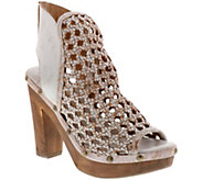 Sbicca Leather Woven Platform Sandals - Kaycee - A414220