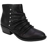 White Mountain Rouching Ankle Booties - Declan - A419520