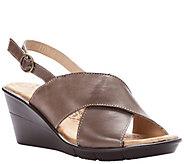 Propet Crisscross Leather Strap Sandals - Luna - A423520