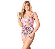 Carol Wior Scoop Neck One-Piece Swimsuit - A425020