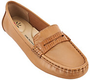Isaac Mizrahi Live! Leather Moccasins w/ Snake Trim - A262121