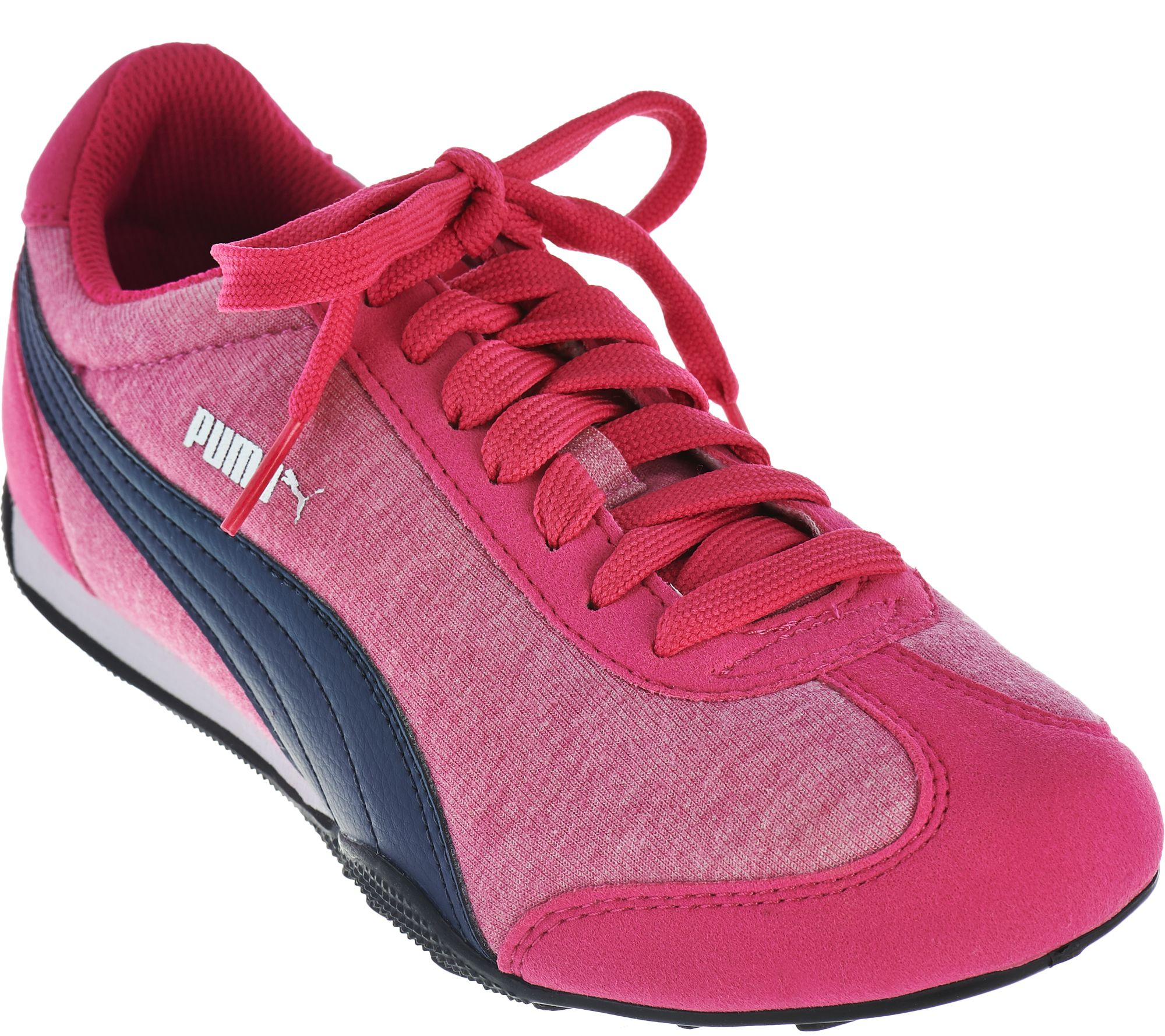 PUMA Jersey Knit Lace-Up Sneakers - 76 Runner Fun - Page 1 — QVC.com 9be12d3fa