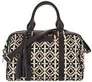 Mushmina Woven Pattern & Leather Satchel - A297021