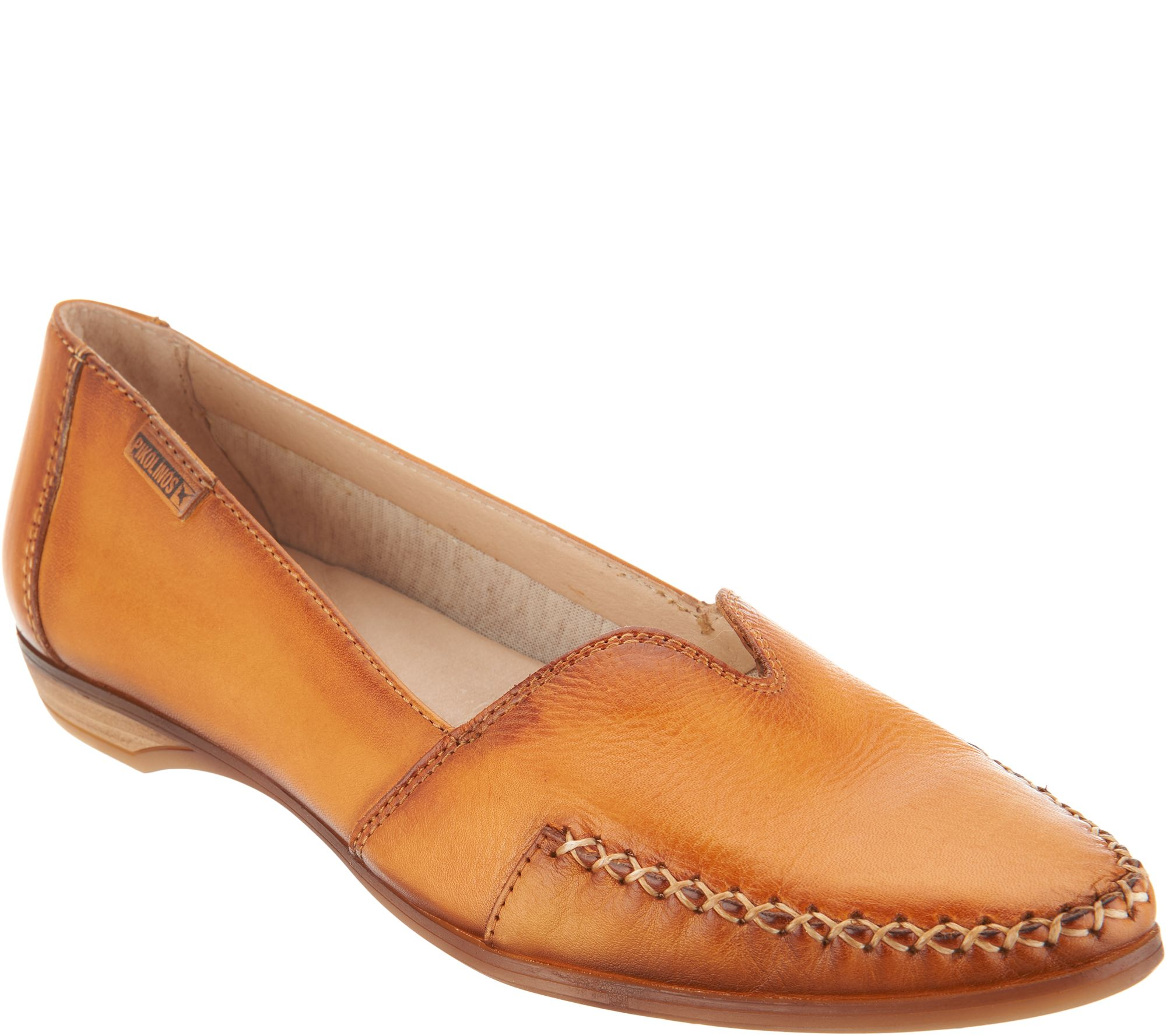 8bd48b89dcf Pikolinos Leather Pointed Toe Loafers - Bari - Page 1 — QVC.com