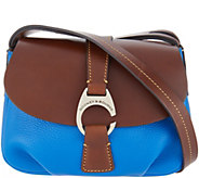 Dooney & Bourke Leather Small Flap Crossbody Handbag - Derby - A308721