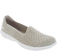 Skechers Go Walk Lite Knit Slip On Shoes - Daisy - A309521