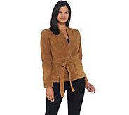 Lisa Rinna Collection Short Suede Jacket - A341721