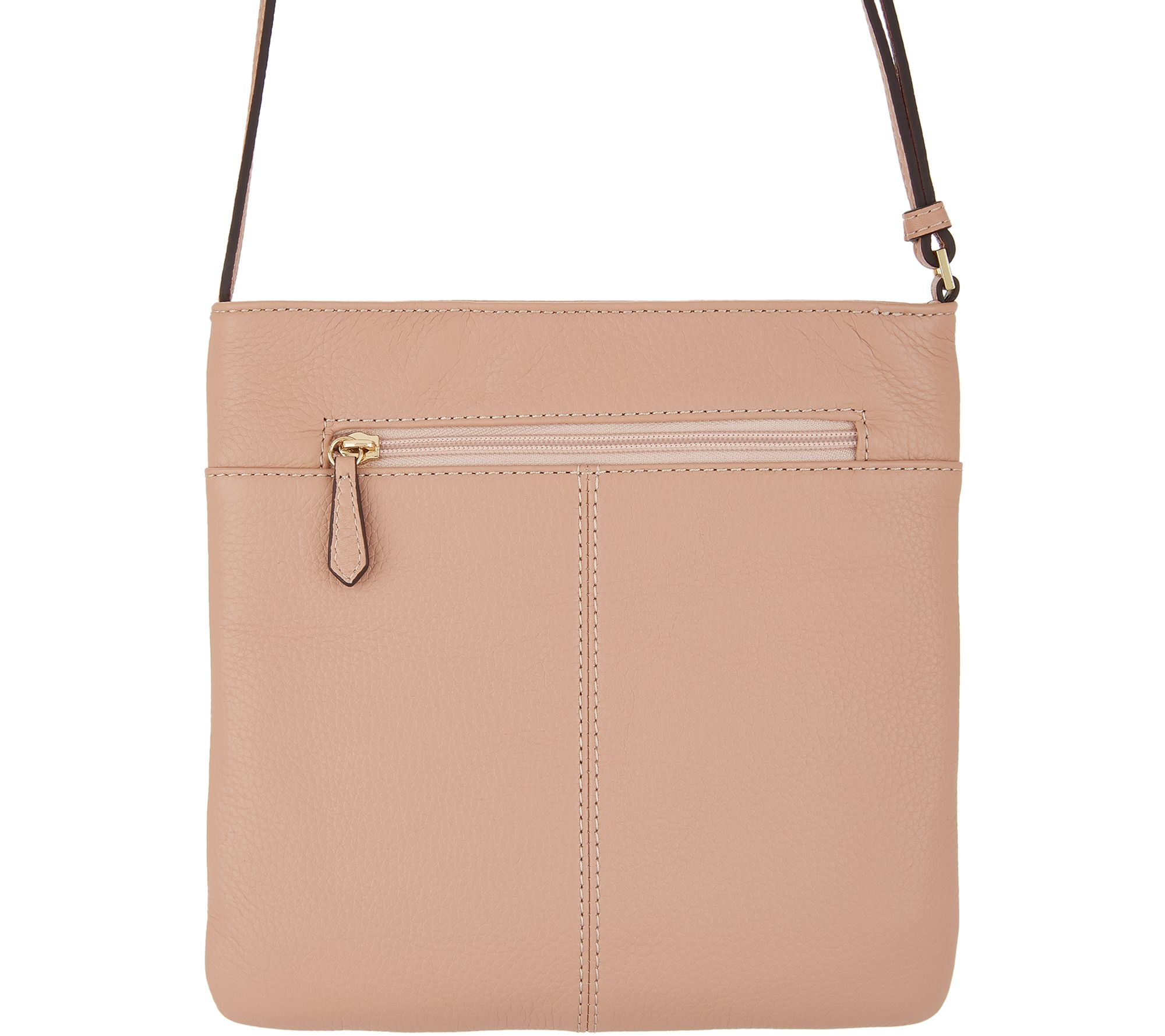 07526b9dad G.I.L.I. Leather Front Pocket Crossbody - Lucca - Page 1 — QVC.com