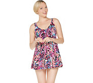 As Is Fit 4 U V-Neck Swing Swim Dress - A345921