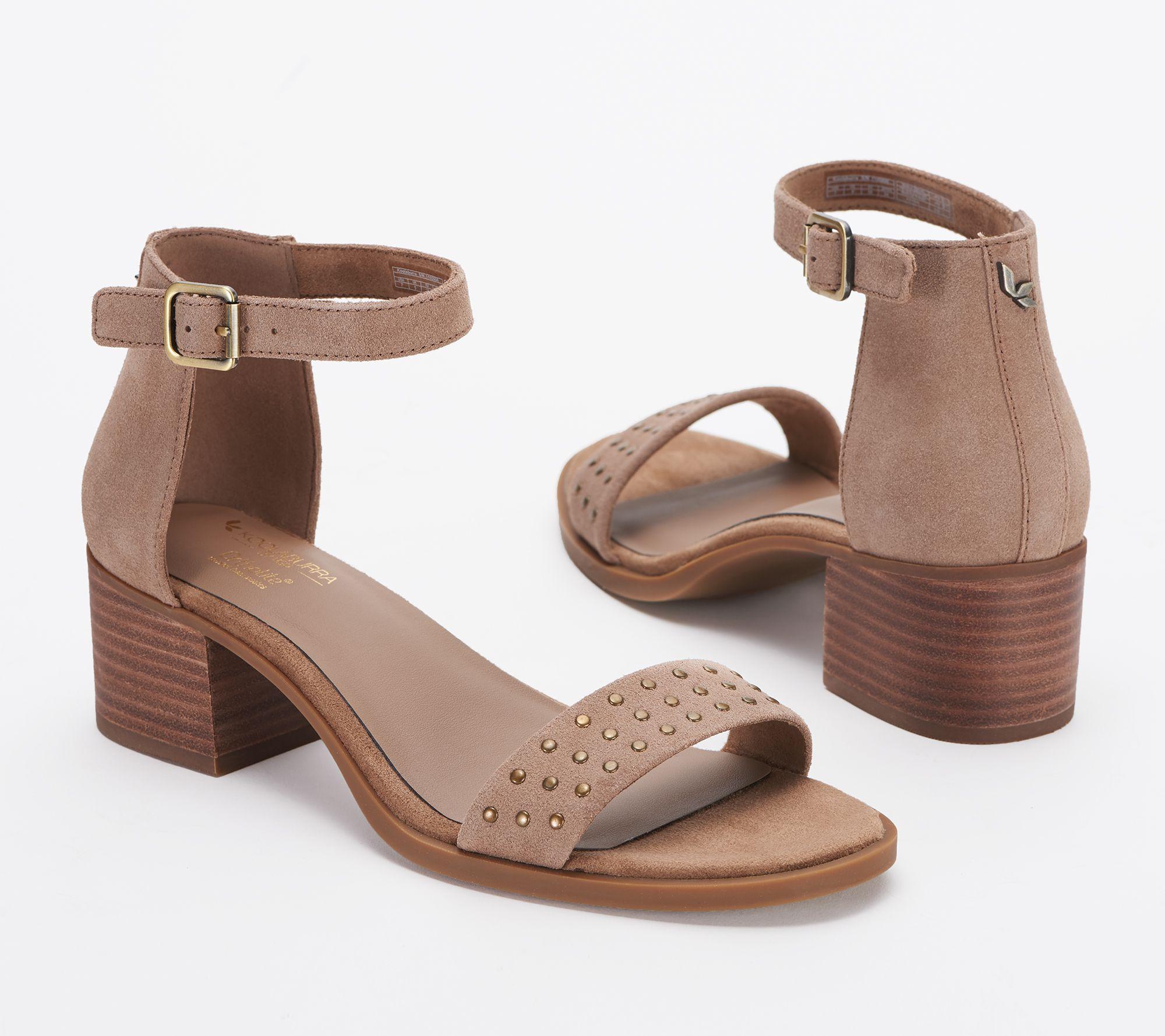 be505a75fd11 Koolaburra Studded Leather Sandals - Bellen - Page 1 — QVC.com