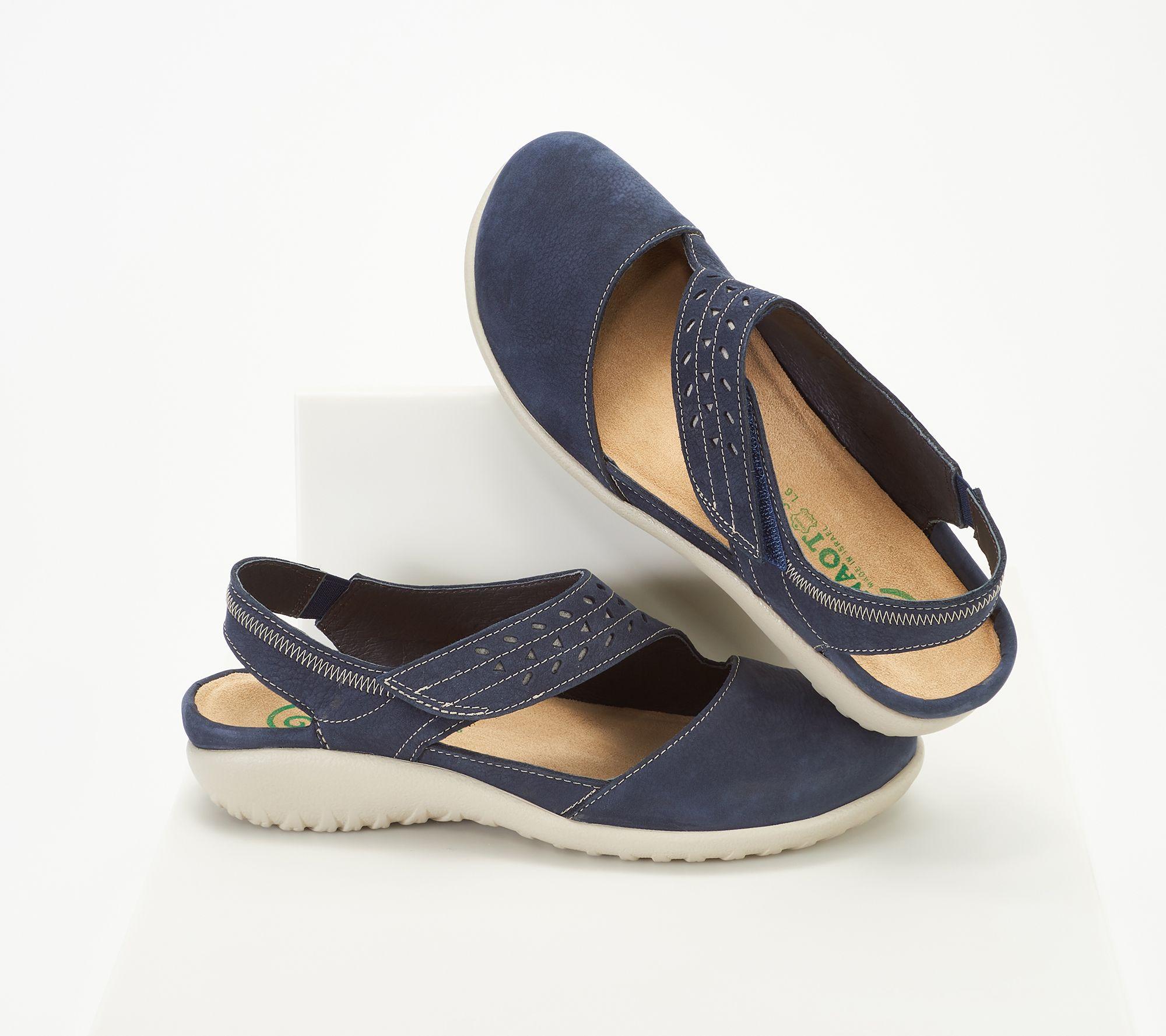 Naot Leather Backstrap Wedge Sandals - Kapua — QVC.com 982dbd84c39