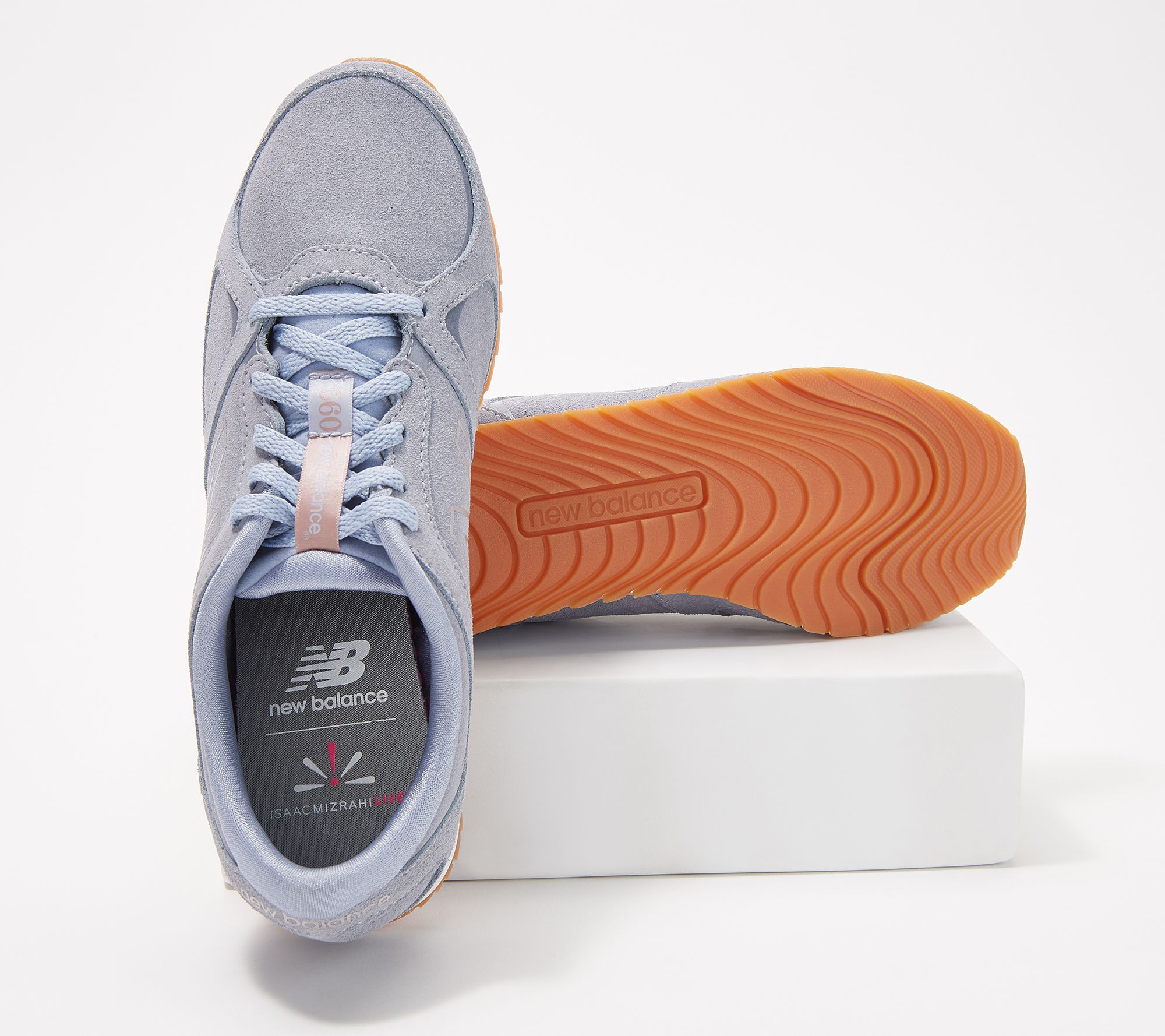 New Balance x Isaac Mizrahi Live! Suede Lace-Up Sneakers - 560 — QVC com