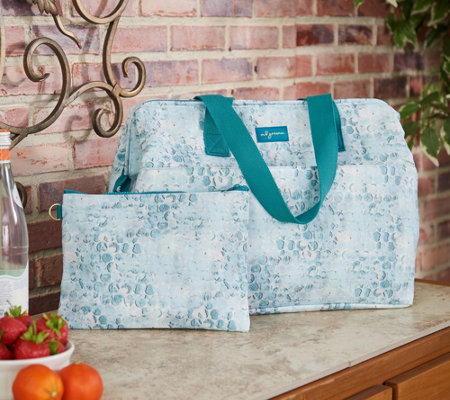 mb greene Hinged Insulated Tote w/ Removable Pouch