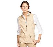 Liz Claiborne New York Zip Front Denim Vest with Pockets - A230522