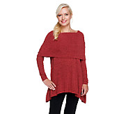 Lisa Rinna Collection Knit Tunic with Foldover Neck - A256722