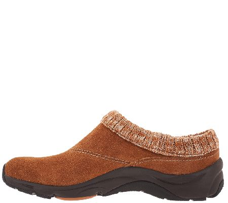 c11087fc82 Vionic Water-Resistant Clogs with Knit Collar - Arbor - Page 1 — QVC.com