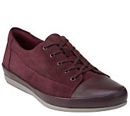 As Is Clarks Leather Lace-up Sneakers - Lorry Grace - A280522