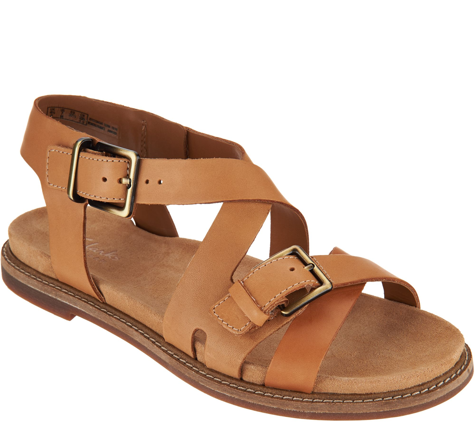 680fa77a2de Clarks Artisan Leather Criss Cross Sandals - Corsio Bambi - Page 1 — QVC.com