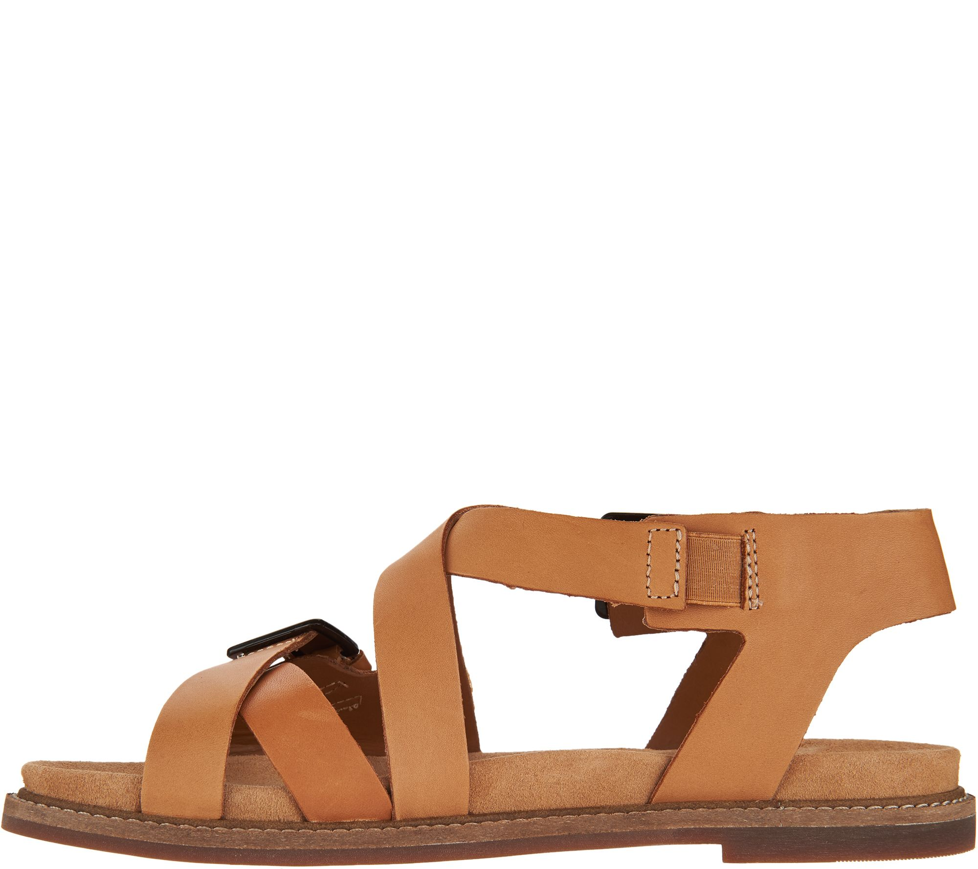1473af881f77 Clarks Artisan Leather Criss Cross Sandals - Corsio Bambi - Page 1 — QVC.com