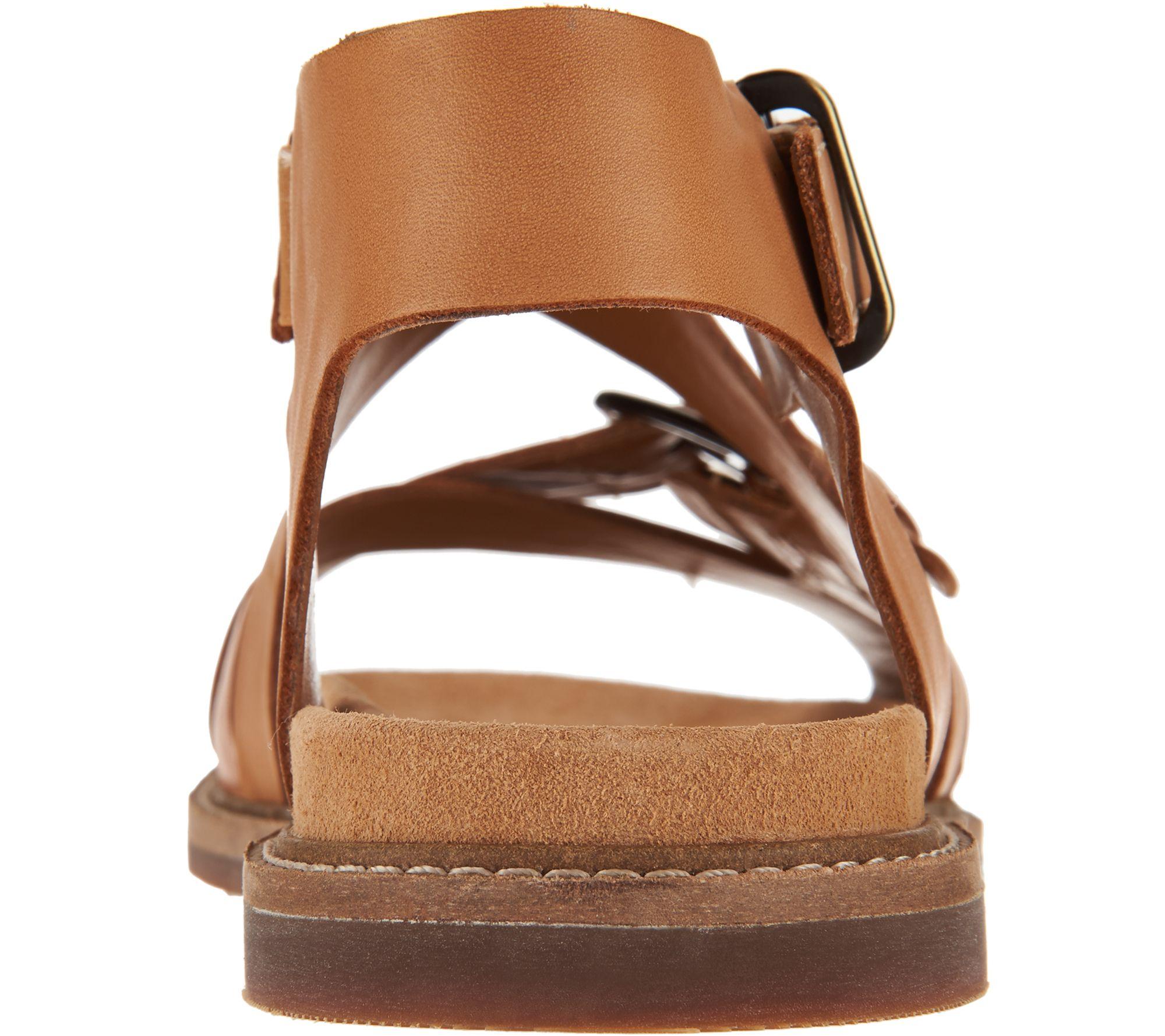 7e146a7ddab Clarks Artisan Leather Criss Cross Sandals - Corsio Bambi - Page 1 — QVC.com