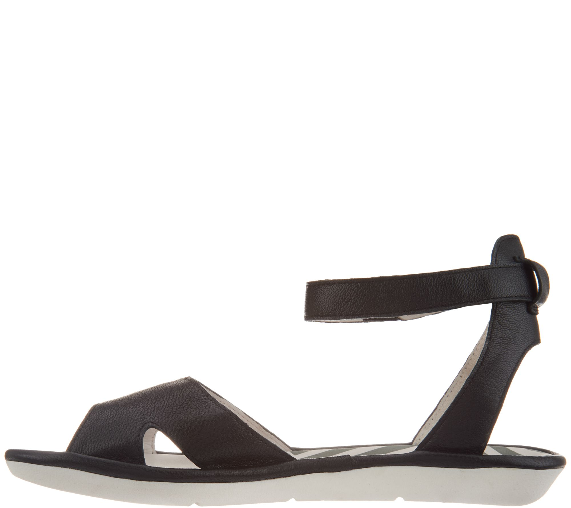 183c47ede82 FLY London Leather Ankle Strap Sandals - Mafi - Page 1 — QVC.com