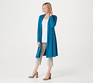 Every Day by Susan Graver Regular Liquid Knit Duster Cardigan - A310722