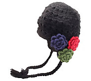 Nirvanna Designs Womens Crochet 3-Flower Earflap Hat - A322722
