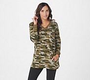Denim & Co. Active Camo Printed French Terry Tunic w Pockets - A342522