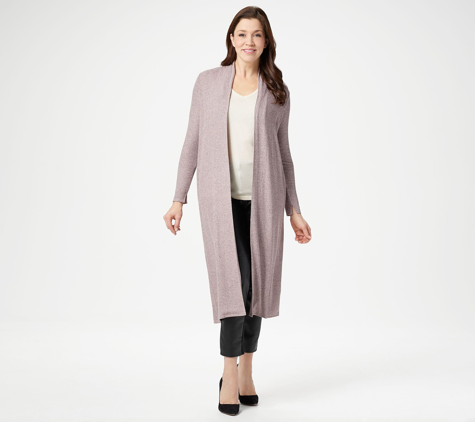 728c270722d7 Lisa Rinna Collection Petite Open Front Duster Cardigan - Page 1 — QVC.com