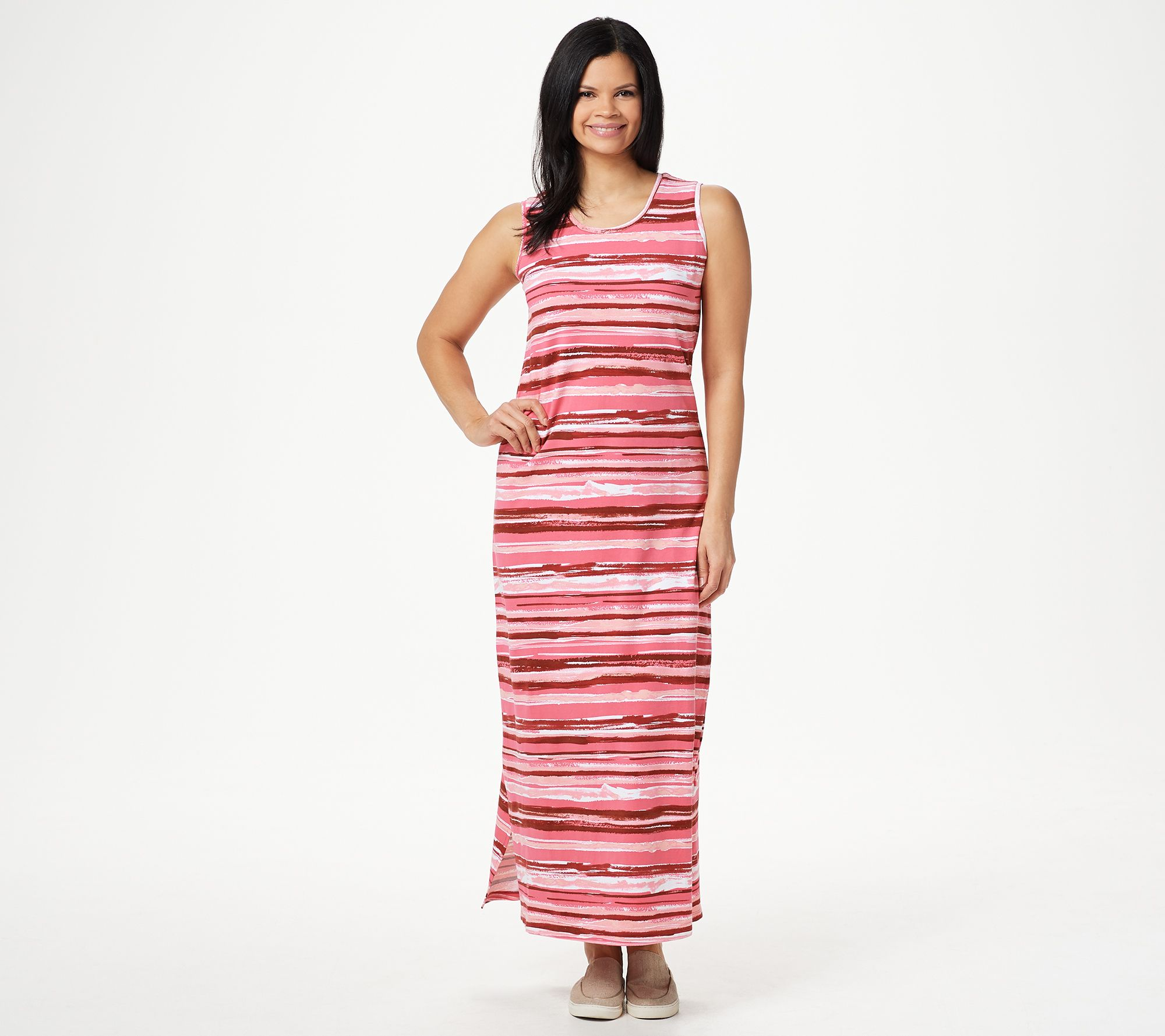 Lisa Rinna Collection Women/'s Petite Knit Maxi Dress with Overlay PM Size QVC