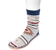 MUK LUKS Mens Slipper Socks - A362222