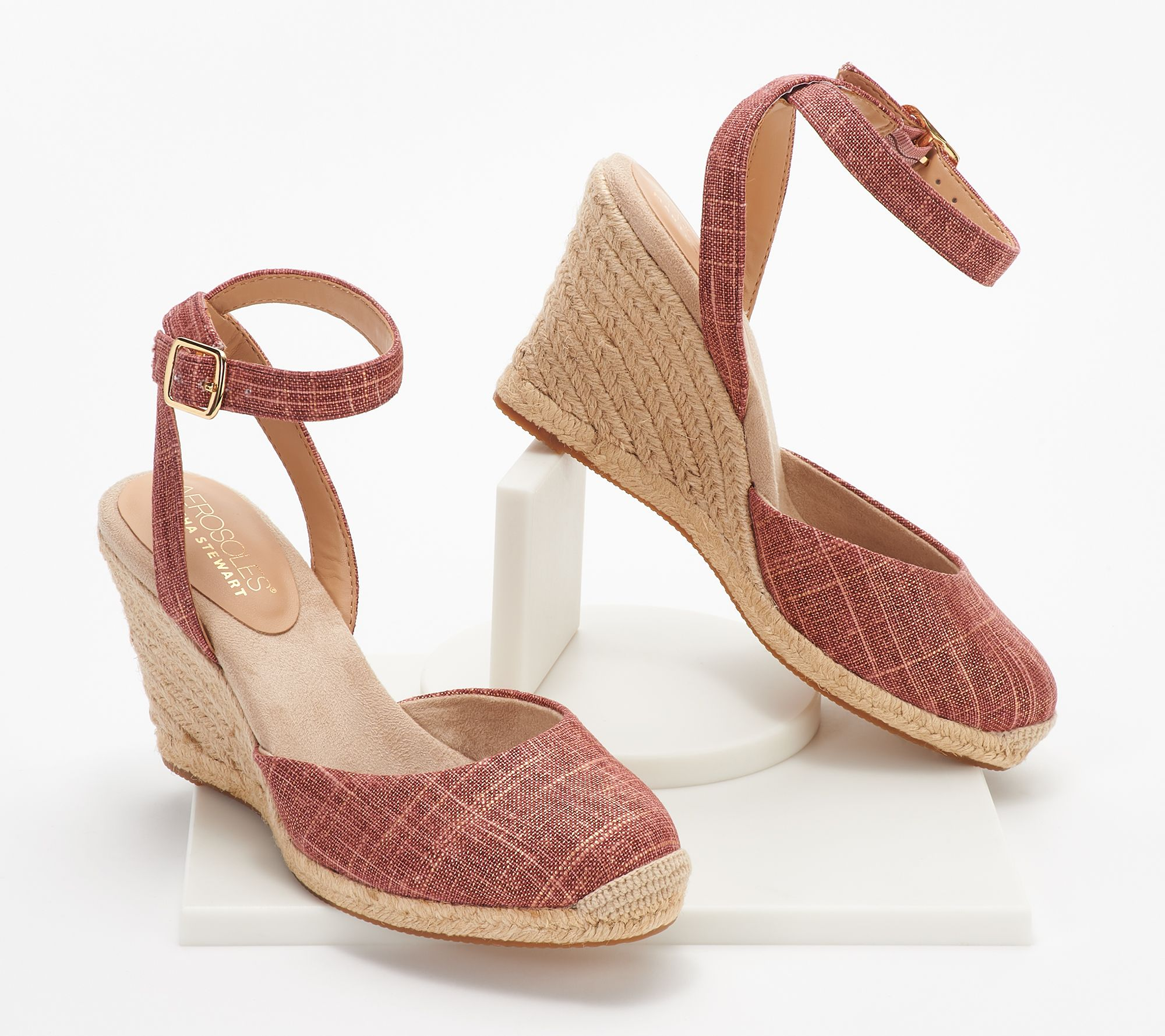 650b86cc56 Aerosoles x Martha Stewart Two Piece Wedges - Meadow - Page 1 — QVC.com