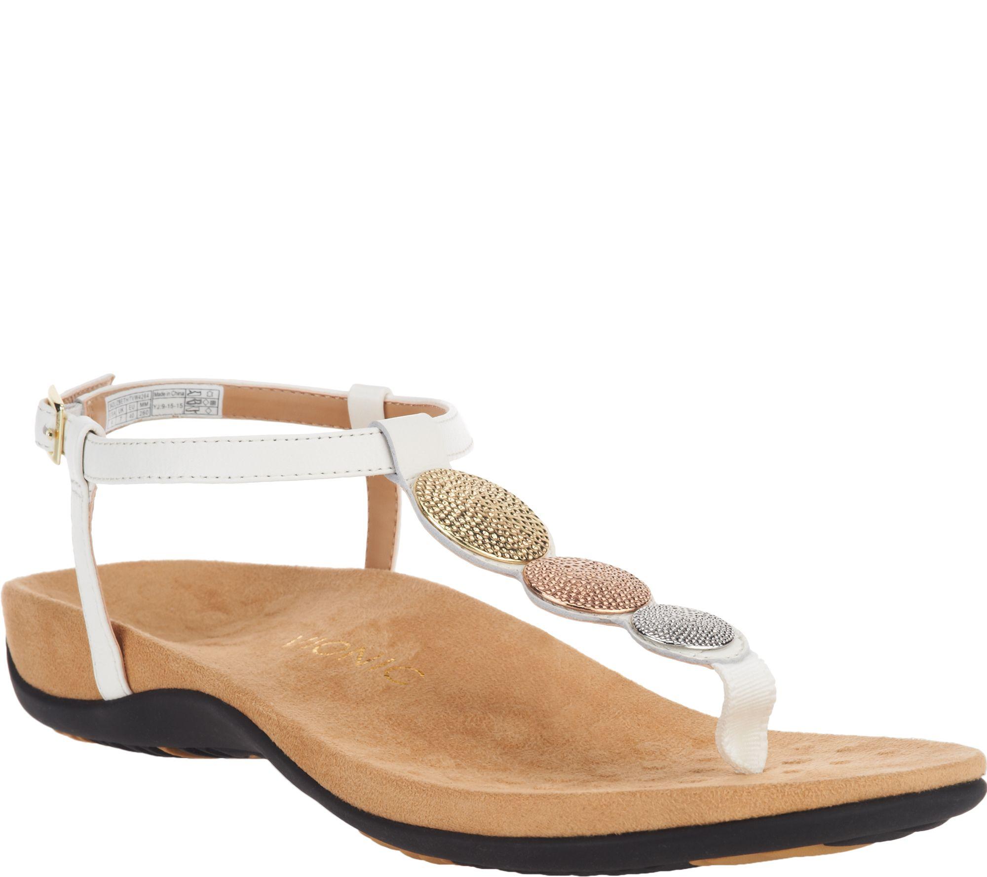 96a8d69de8b Vionic Orthotic T-strap Sandals w  Ankle Strap - Lizbeth - Page 1 — QVC.com