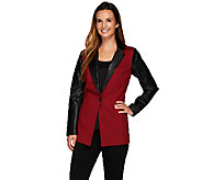 Linea by Louis DellOlio Color Block Button Front Blazer - A268123
