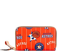 Dooney & Bourke MLB Nylon Astros Zip Around Phone Wristlet - A281723
