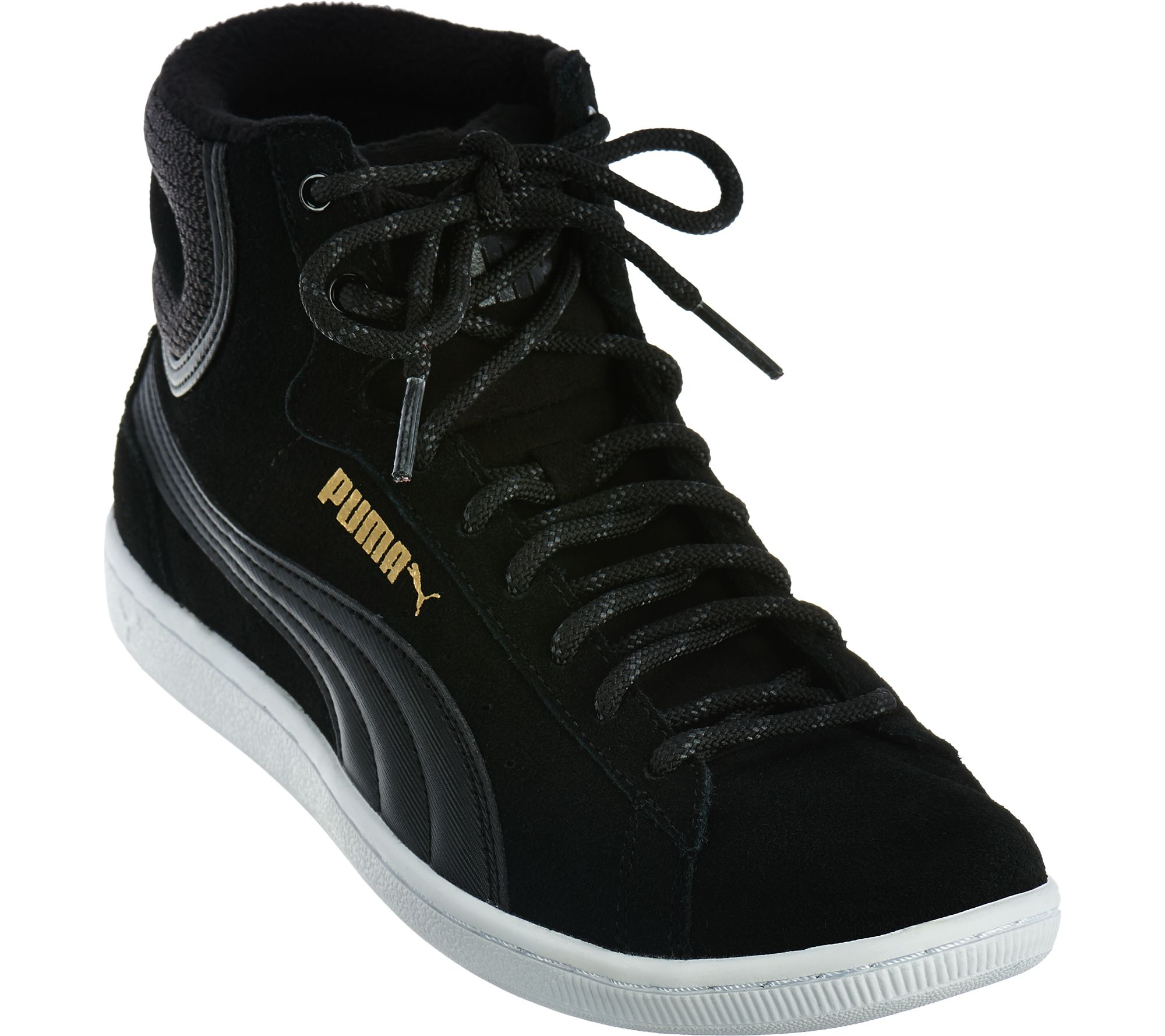 516096c4ff50 PUMA Suede Hightop Lace-up Sneakers - Vikky Mid - Page 1 — QVC.com