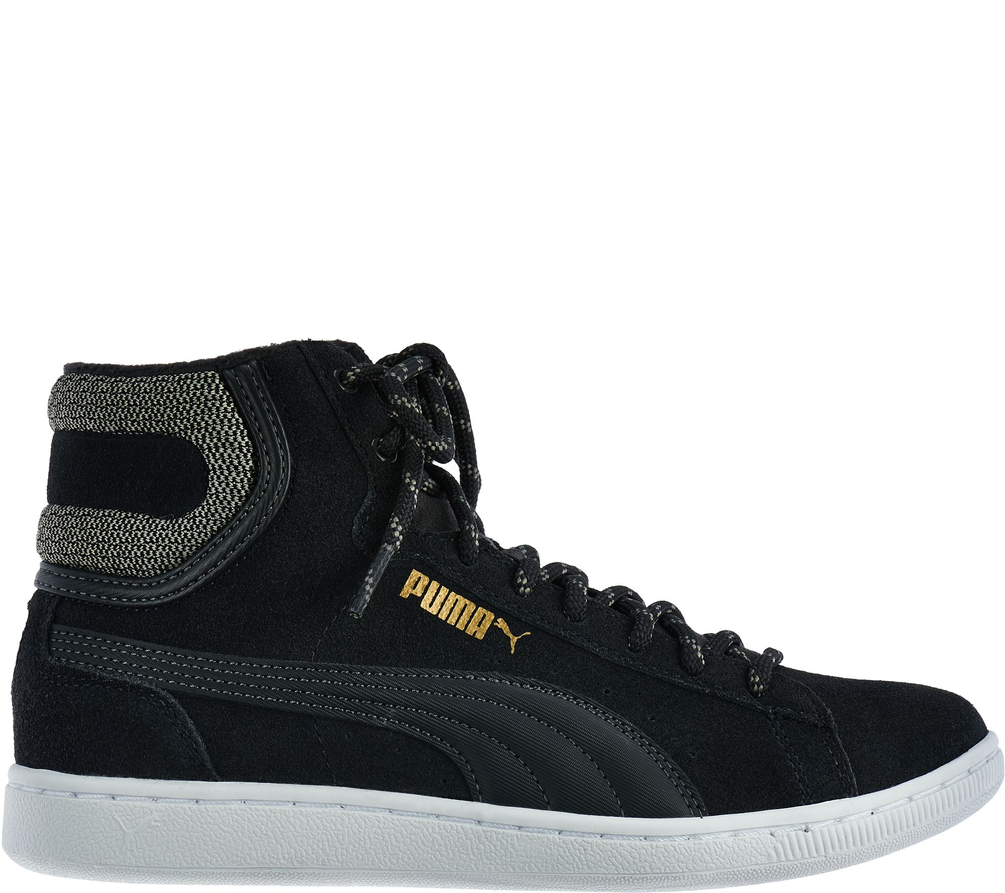 17258c93d12 PUMA Suede Hightop Lace-up Sneakers - Vikky Mid - Page 1 — QVC.com
