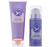 Hummingbird Farms Lavender Heavy Cream & Body Wash Set - A287023