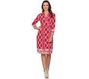 C. Wonder Printed Faux Wrap Dress - A287623